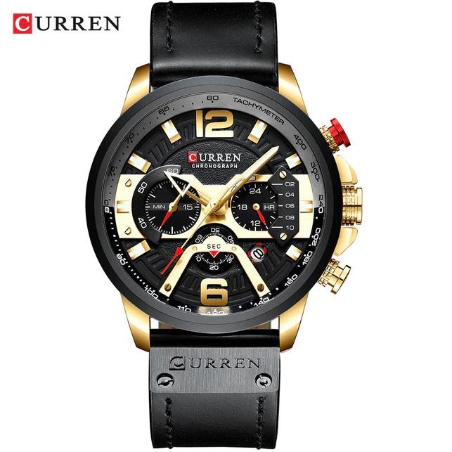 Hodinky Luxury CURREN-Čierna/Zlatá KP5431