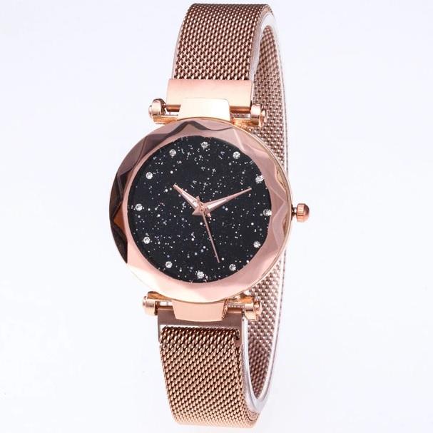 Magnetické Hodinky Stars-Zlatá KP6250