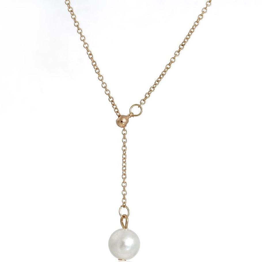 Levně Náhrdelník Bijoux Maxi Pearl - Zlatá KP1714