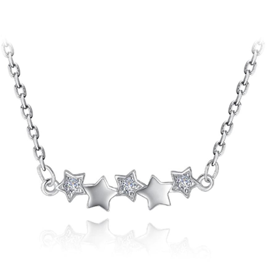 Levně Náhrdelník Star-Stříbrná KP5315