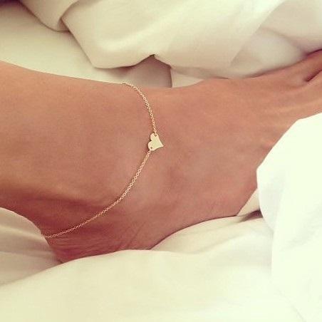 Náramek na nohu Heart-Zlatá KP1769
