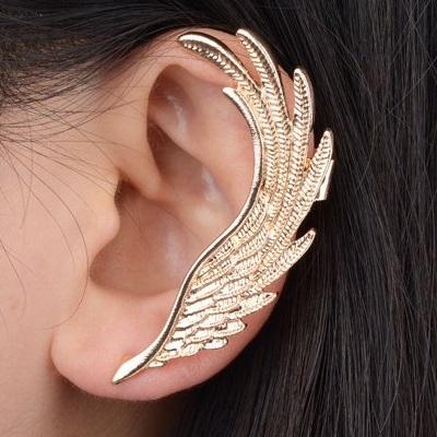 Náušnica Feather (ľavá)-Zlatá KP1585