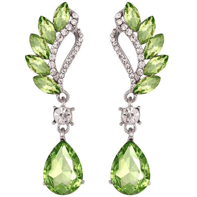 Náušnice Beautiful - Zelená KP1853
