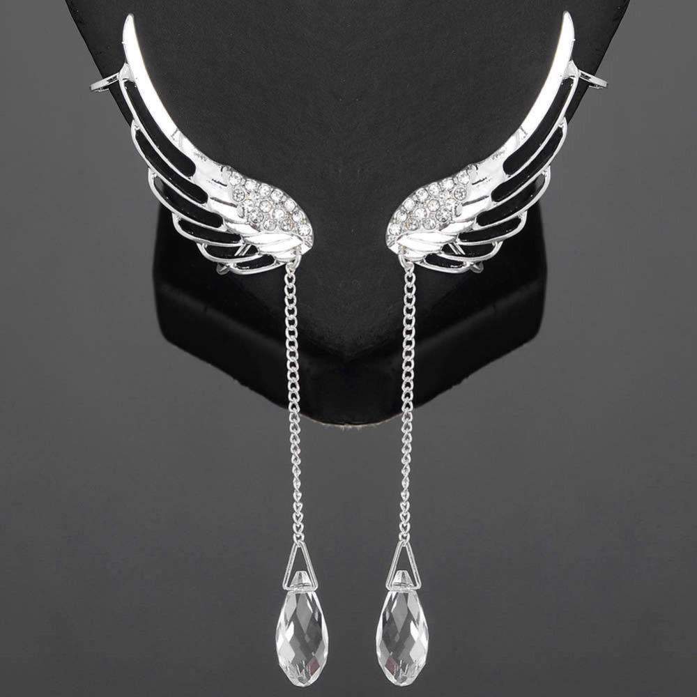 Náušnice Crystal Angel - Stříbrná KP1698