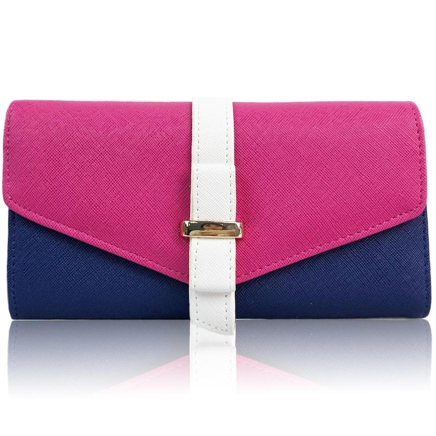 Peňaženka Farah-Ružová/Modrá KP6399