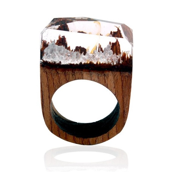 Prsteň Wood Resin Typ2-Kryštálová/57mm KP5321