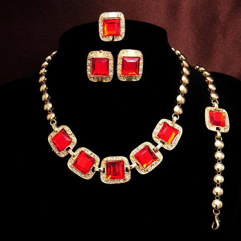 Set Crystal Panel - Červená KP686