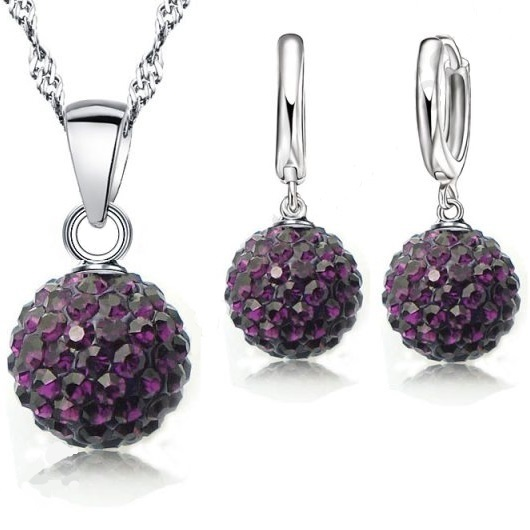 Set Sparkling Shamballa - Tmavě fialová KP294
