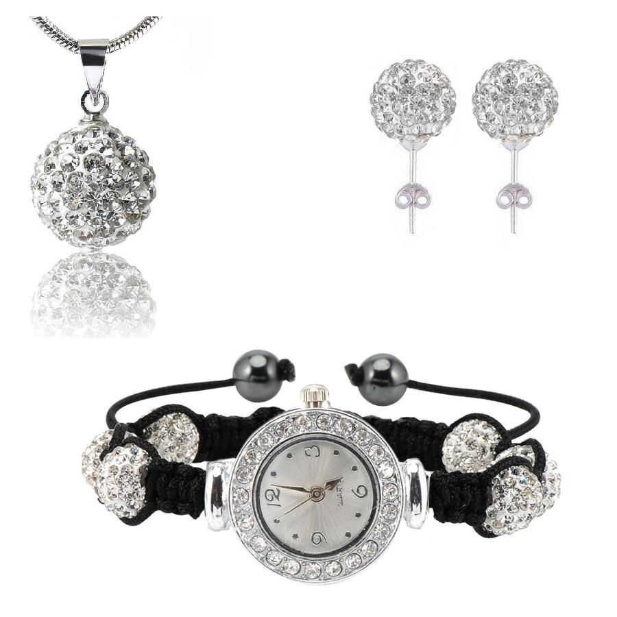 Shamballa hodinky -Stříbrná