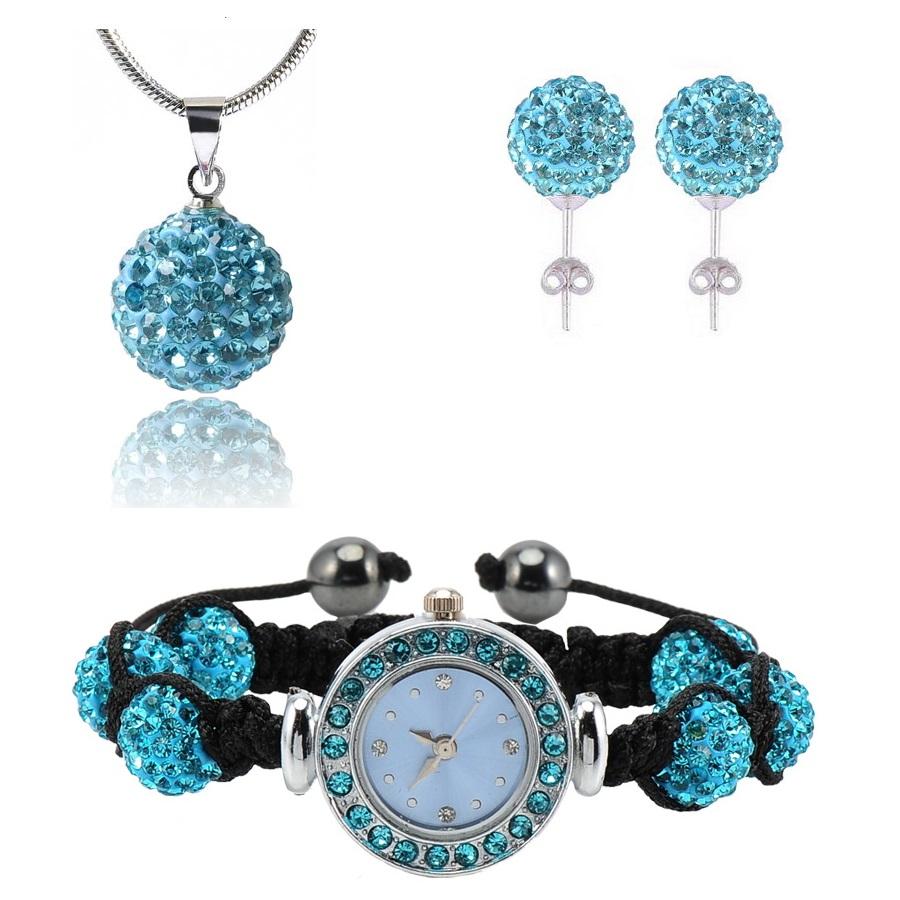Shamballa hodinky - Tyrkysová