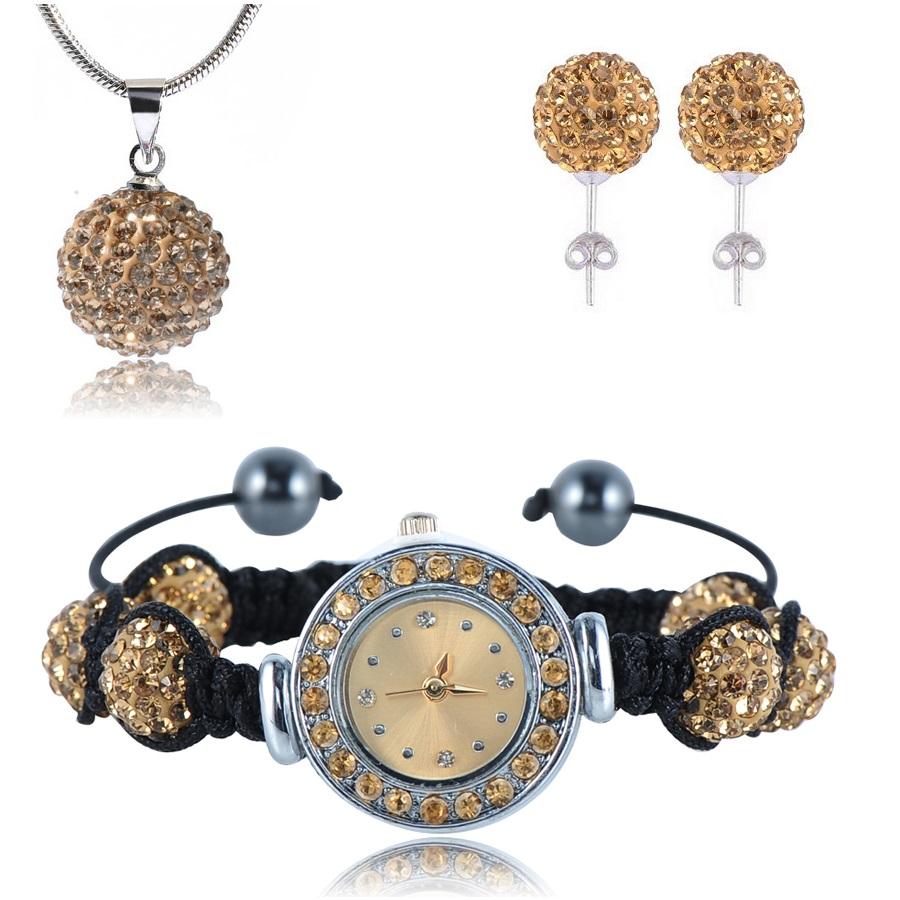 Shamballa hodinky - Zlatá