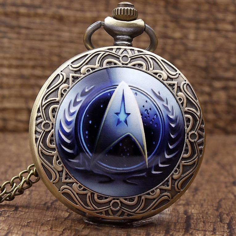 Levně Kapesní Hodinky Star Trek-Modrá
