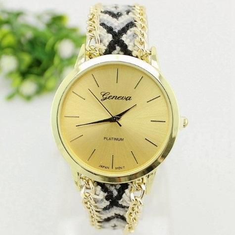 Panske kovove hodinky geneva levně  ad83a914337
